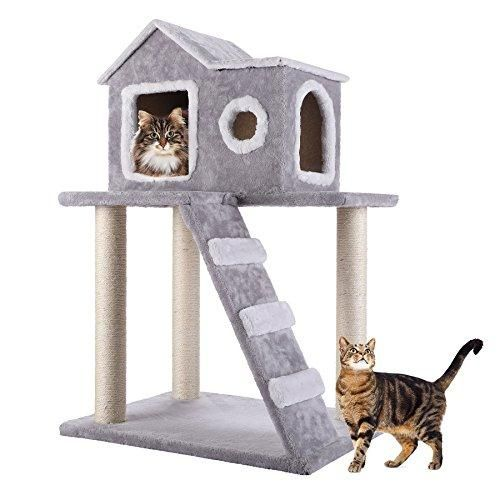 co z cat tree condo tower with ladder and scratching posts kitty rh pinterest com