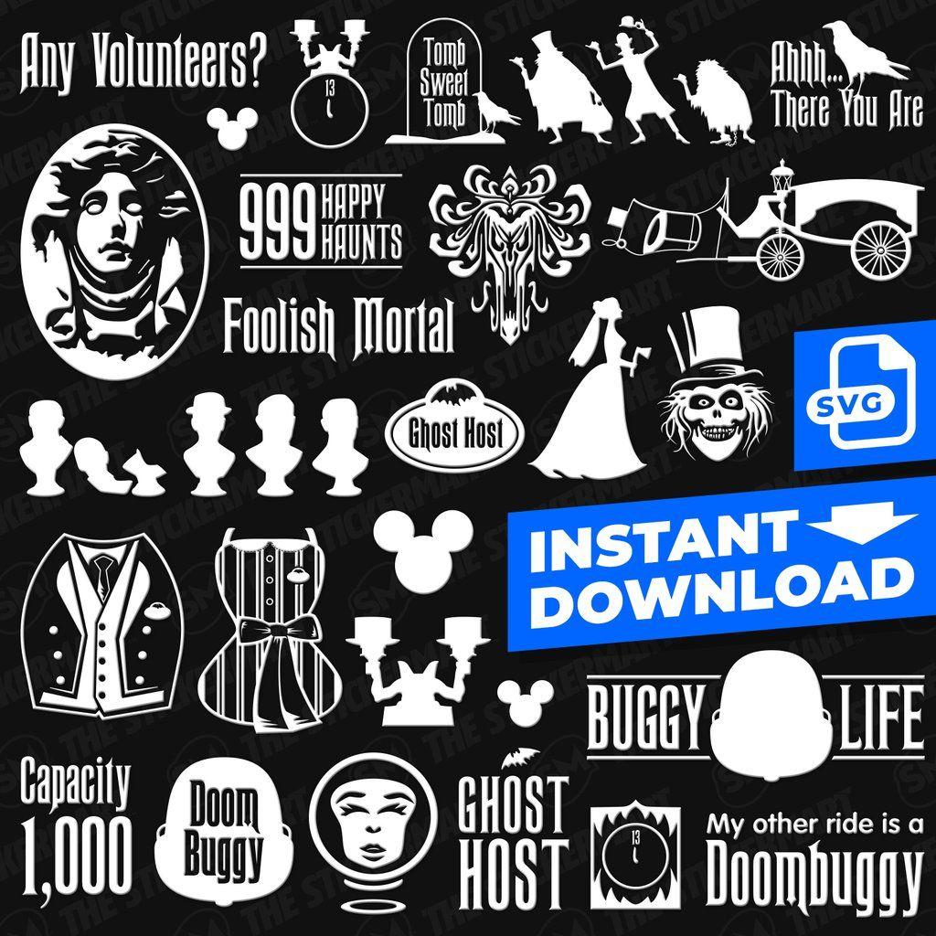 25pc Haunted Mansion Digital File Bundle Instant Download