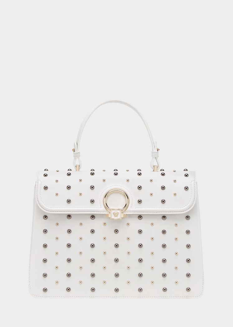 Outlet With Credit Card Cheap Fake studded DV One bag - White Versace Outlet View cGUsuvZX6