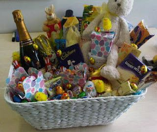 The easter basket i put together to be raffled off for charity i easter basket idea for raffle negle Images