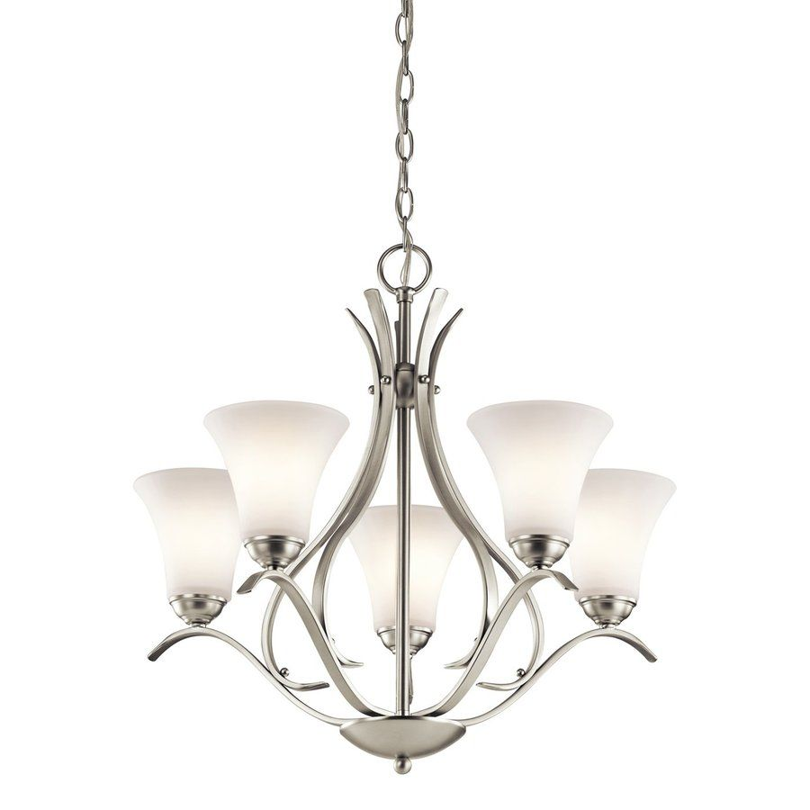Kichler lighting keiran 245 in 5 light brushed nickel etched glass kichler lighting keiran 245 in 5 light brushed nickel etched glass shaded chandelier mozeypictures Image collections