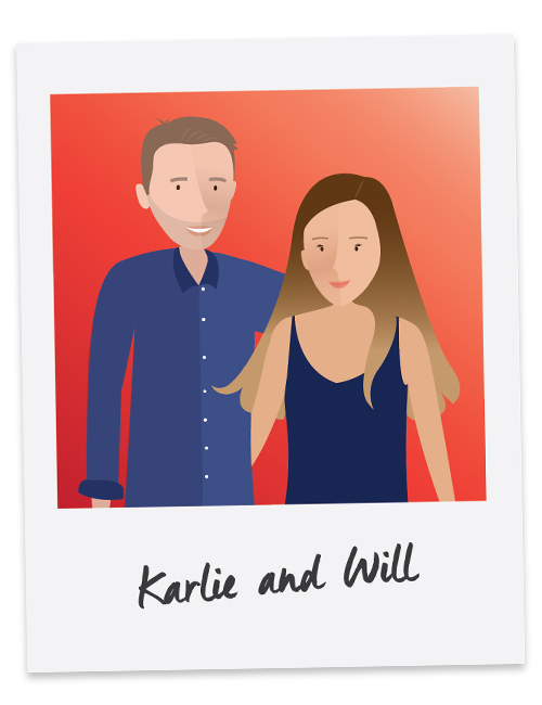 Will is competitive and Karlie is more laid