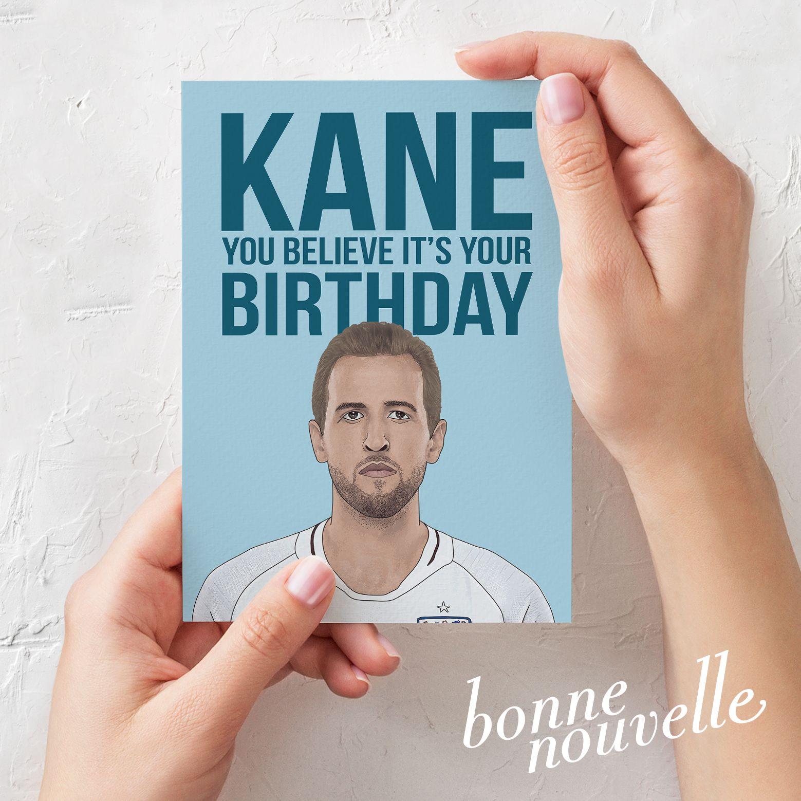 Harry Kane Birthday Card England Football Tottenham Hotspur Fan Harrykane Football Soccer Engl Birthday Cards Birthday Cards For Him Greeting Card Design
