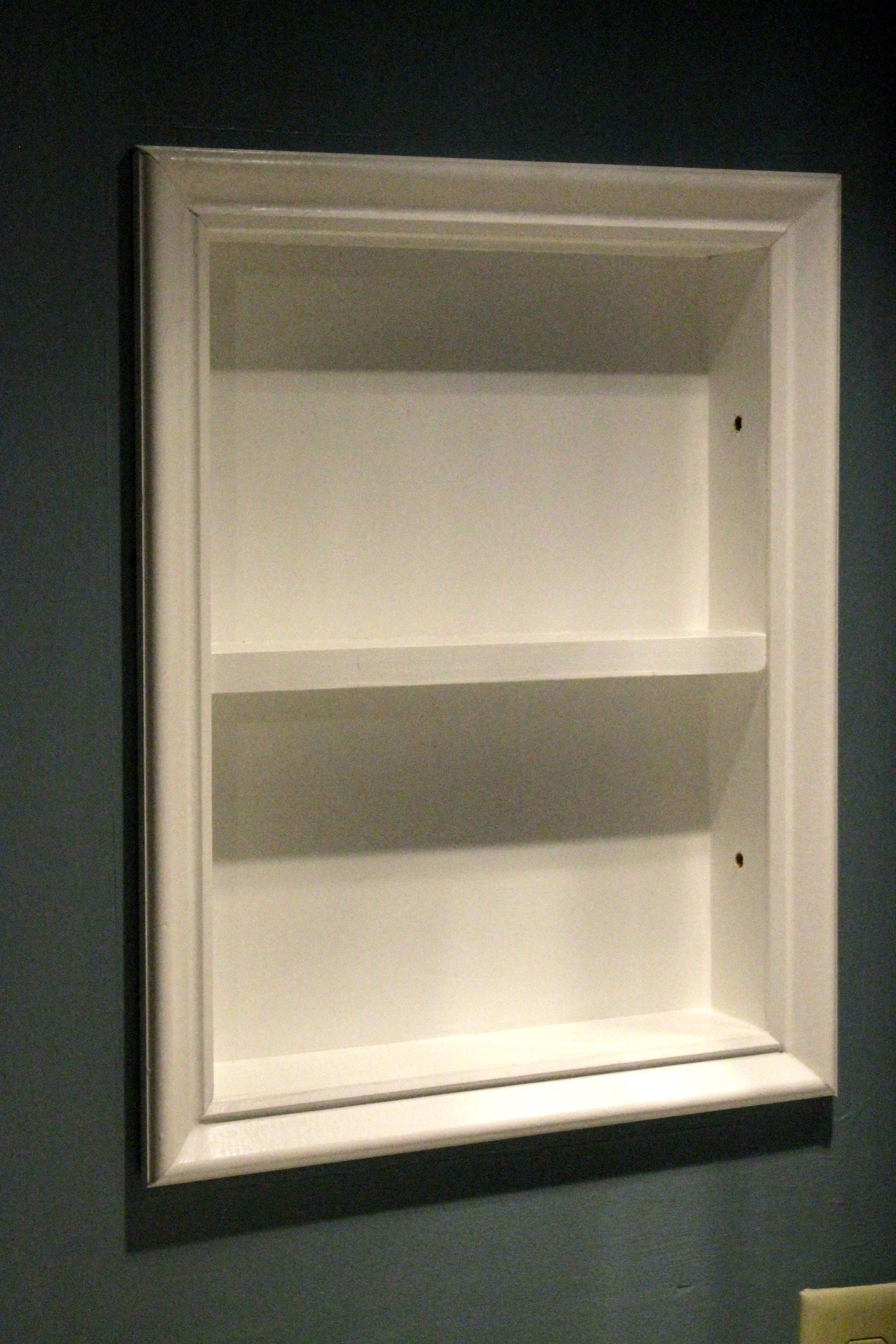 how to turn an old medicine cabinet into open shelving building rh pinterest com