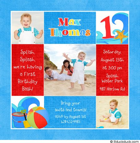 Beach Themed First Birthday Parties