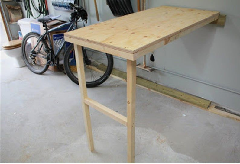 Work Table Plan Fold Down Compact In 2021 Craft - How To Build A Fold Down Work Table