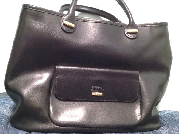 Vintage Longchamp Roseau Leather Bag  c5c4a5fc8fcc2