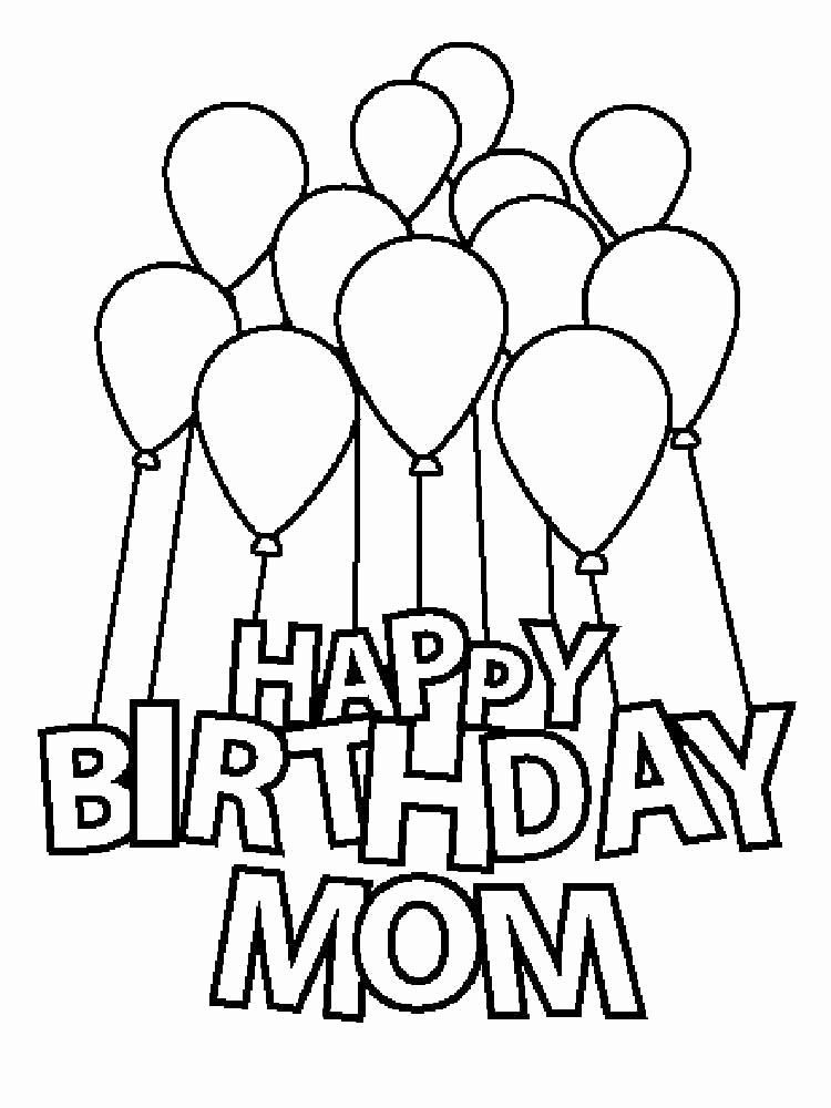 24 Happy Birthday Mom Coloring Page in 2020 Happy