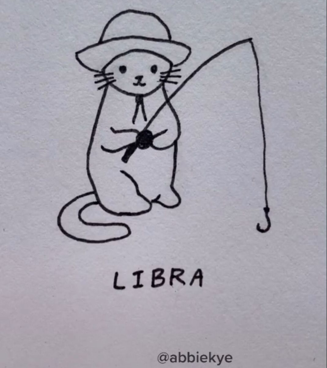 Libra Cat Tattoo Mini Drawings Easy Love Drawings Easy Doodles Drawings