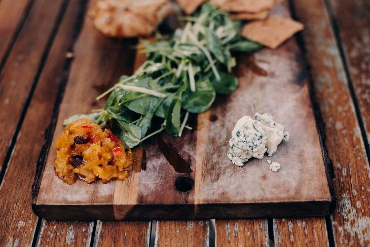 Artisan cheese plate appetizer at porter creek hardwood