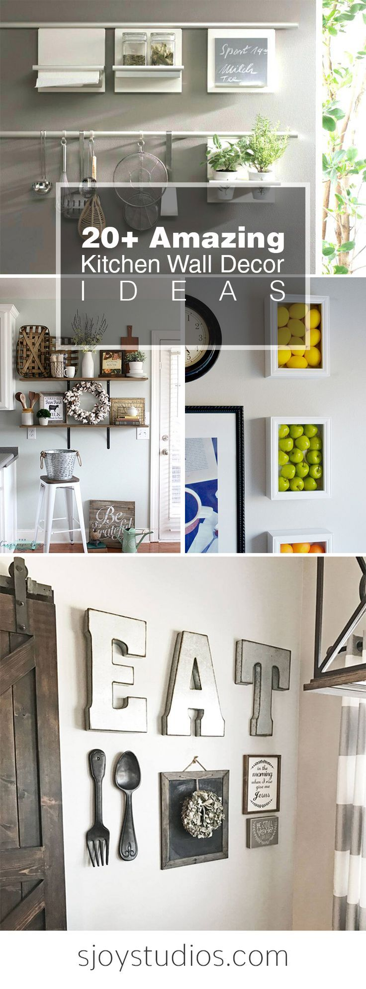 this 20 kitchen wall decor ideas will make you wants to decorate rh pinterest com