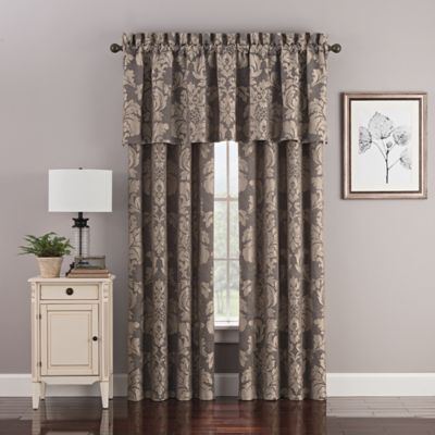 Hanley 84 Inch Rod Pocket Window Curtain Panel Pair In Grey