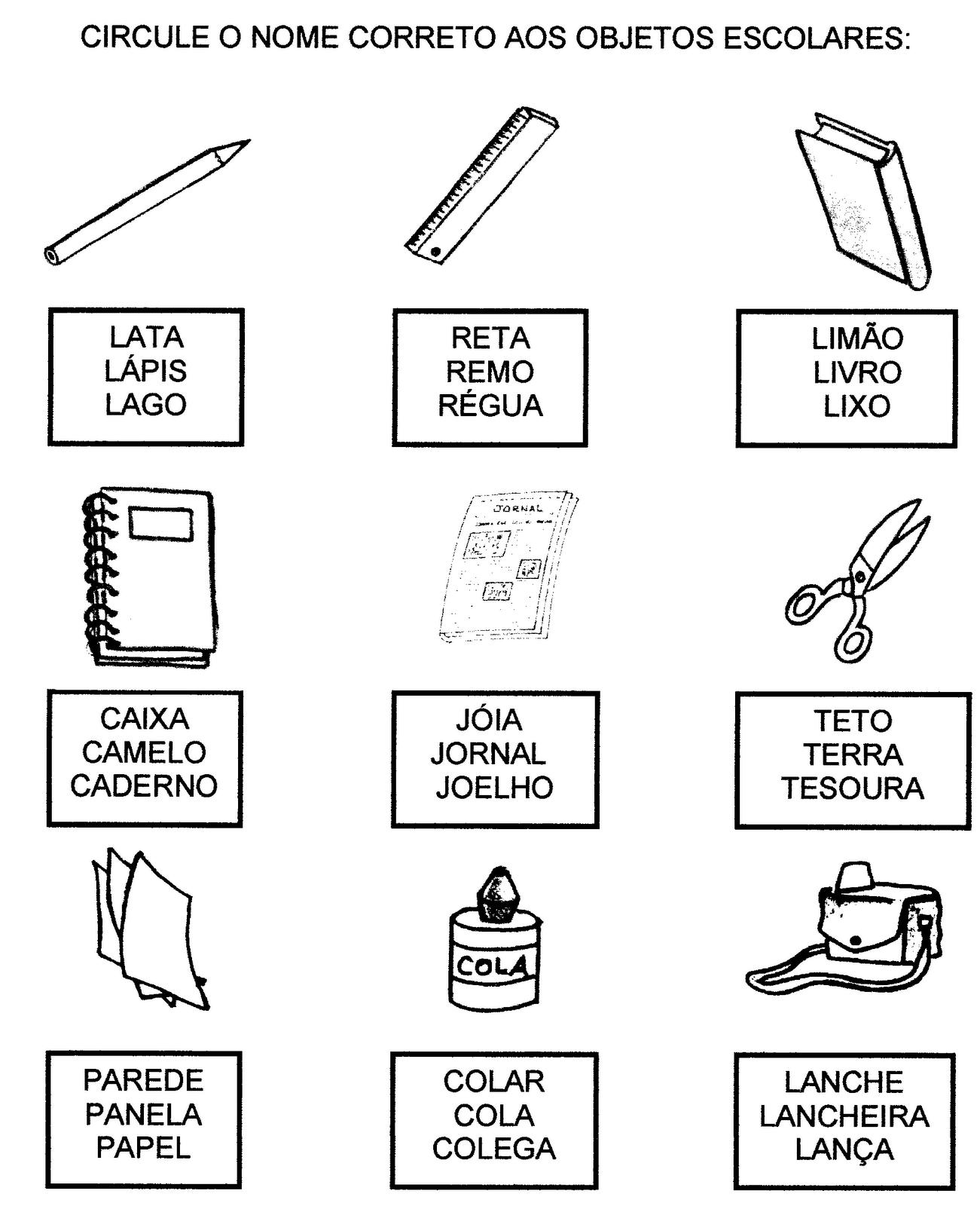 Favoritos lista de material escolar atividades - Pesquisa Google | escola  LJ05