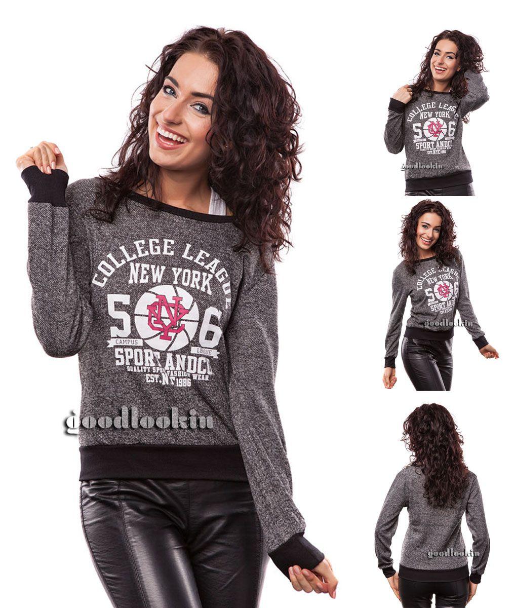 ea4f022c878dbc Rewelacyjna krótka bluza, idealna do wielu stylizacji. Bardzo wygodny krój.  Bluza posiada nadruk