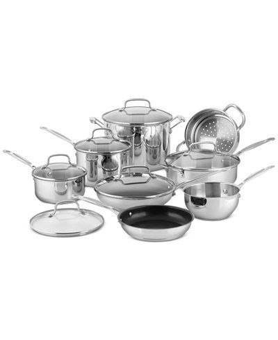 chef s classic 14 pc stainless steel cookware set created for rh pinterest co uk