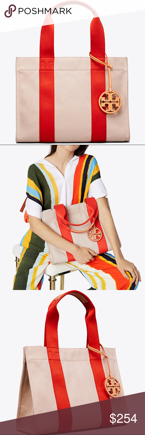 38cd8d09f NWT TORY BURCH Iconic MUST HAVE Miller Canvas Tote NWT TORY BURCH