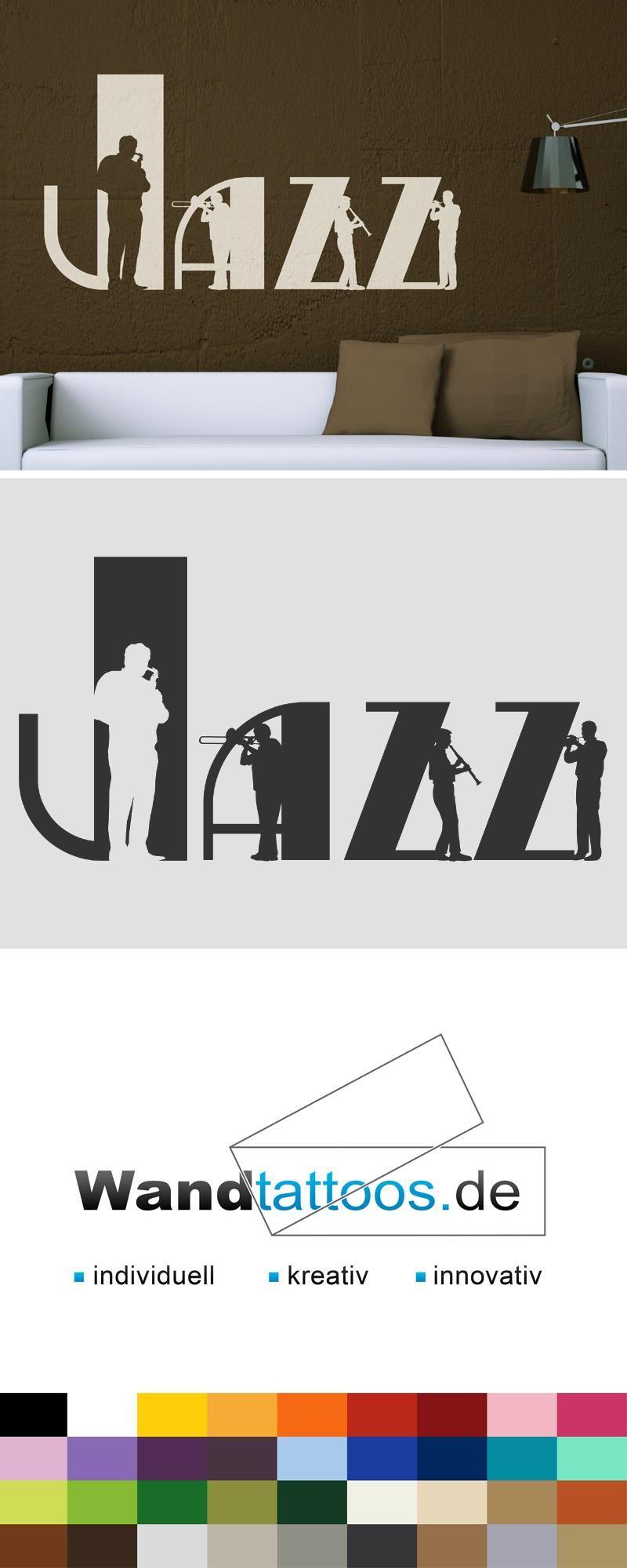 Good Wandtattoo Jazz Musiker