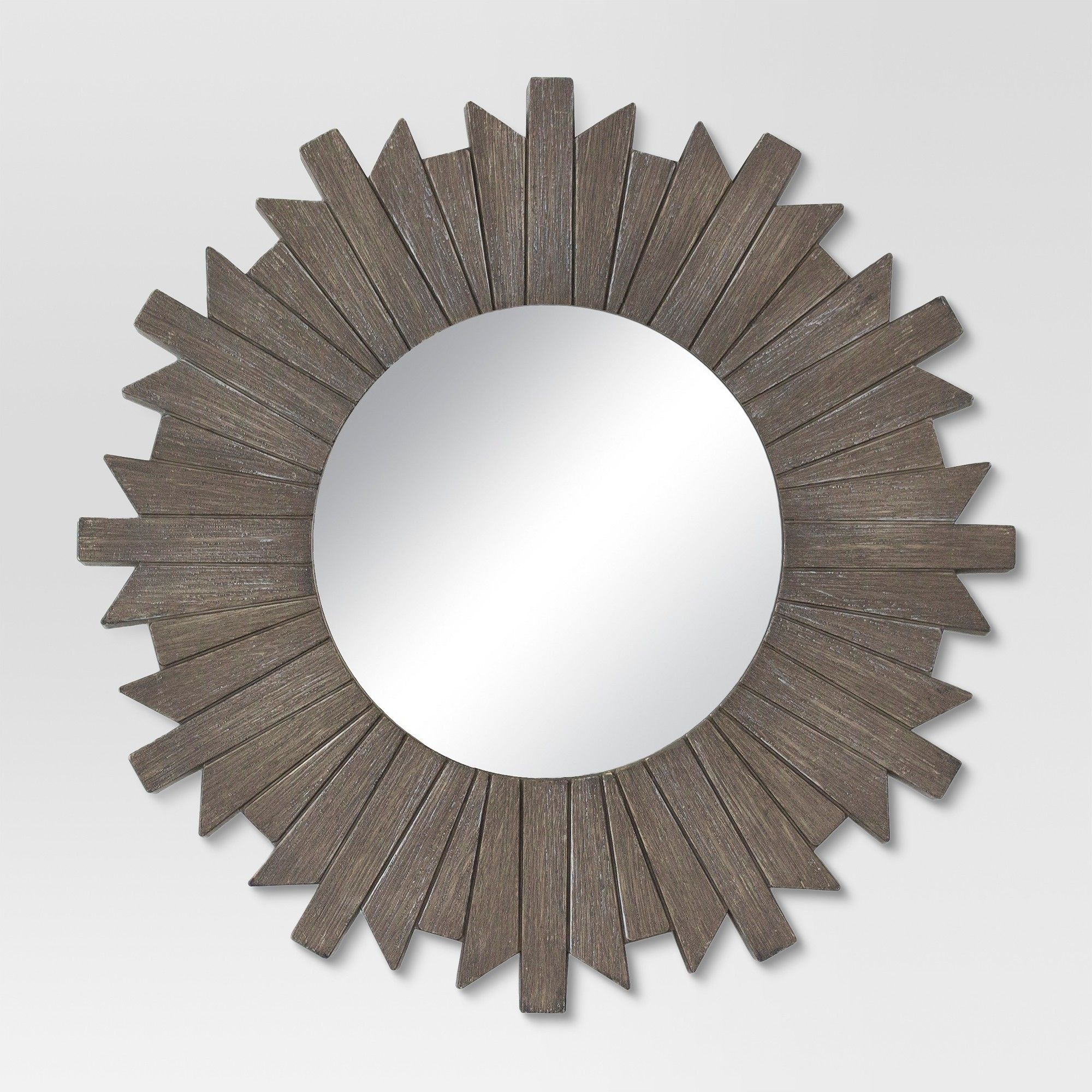sunburst reclaimed decorative wall mirror gray threshold rh pinterest com
