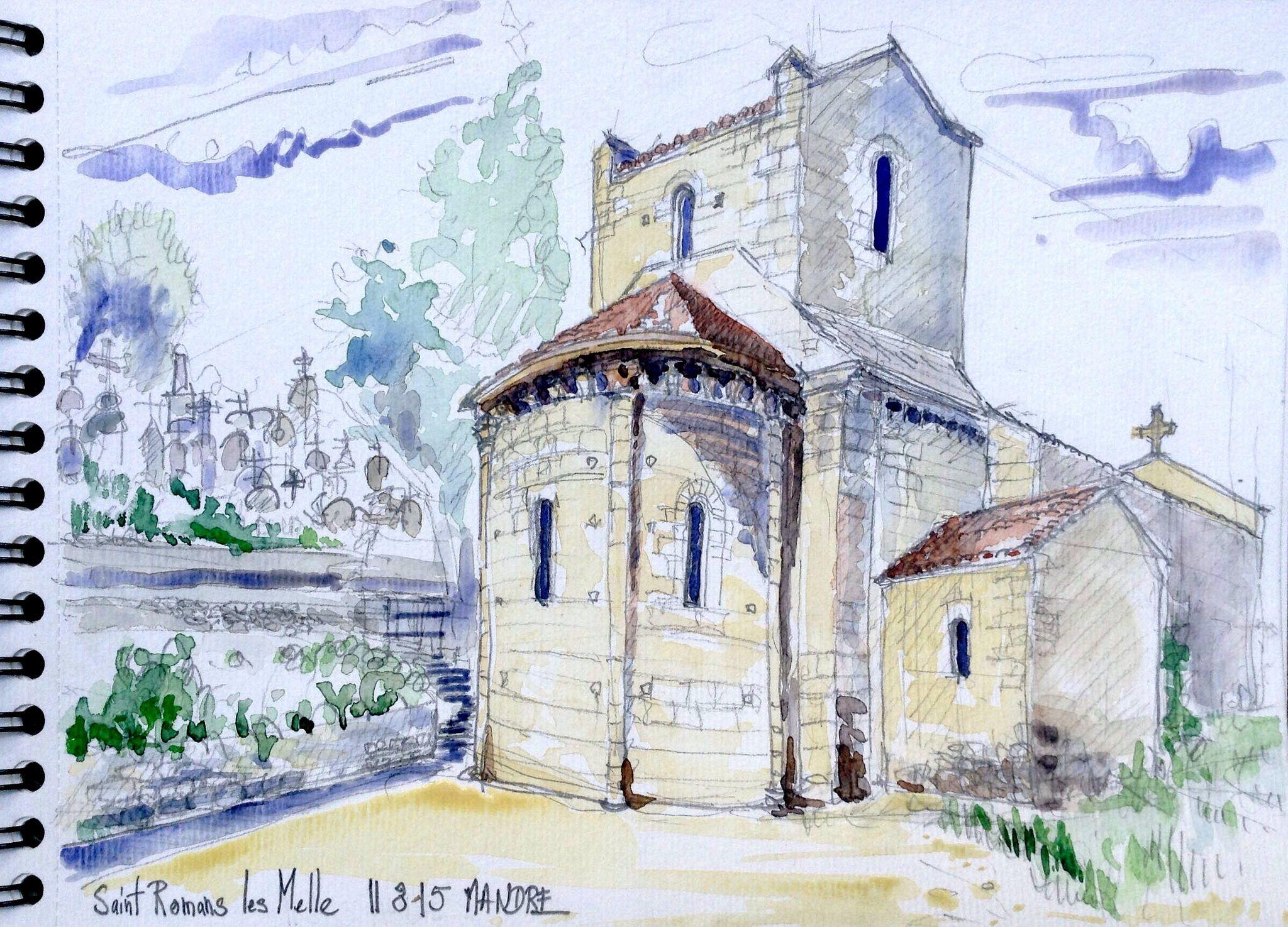 L'église romane de Saint Romans les Melle