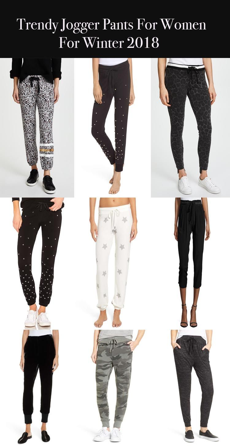 44a6fcb587 Trendy jogger pants for women in winter 2018.    Style blogger Candace Rose  Anderson of Candieanderson.com