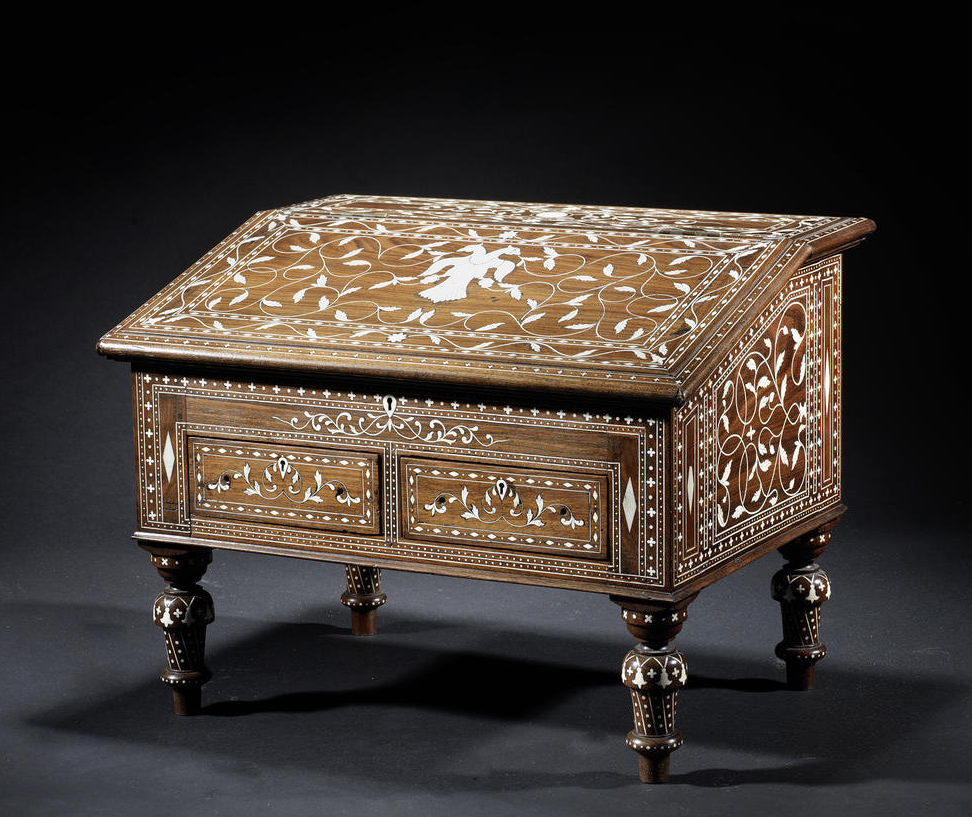 a mysore ivory inlaid wood writing desk southern india circa 1880 rh pinterest com
