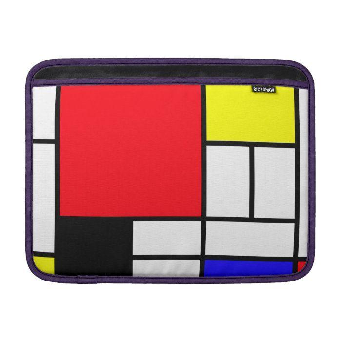 "Mondrian Macbook Air 13"" Horizontal Sleeve For MacBook Air | Zazzle.com"