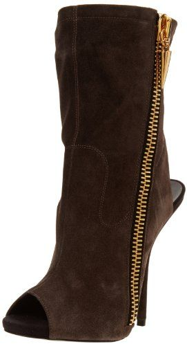 Giuseppe Zanotti Women's Side Zip Open Toe Ankle Boot,Sensory Flan,6.5 M US