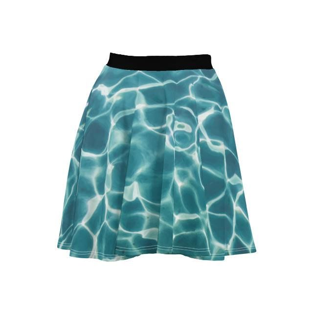 Refracted Water Ripples Fit & Flare Skirt #waterripples