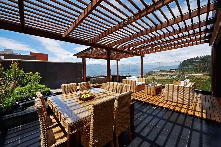 50 Wood Deck Design Ideas | Rooftop deck, Deck pergola and Wicker ...