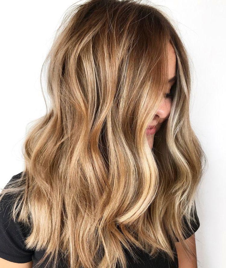 Bronde Balayage Haircolor Honey Blonde Hair
