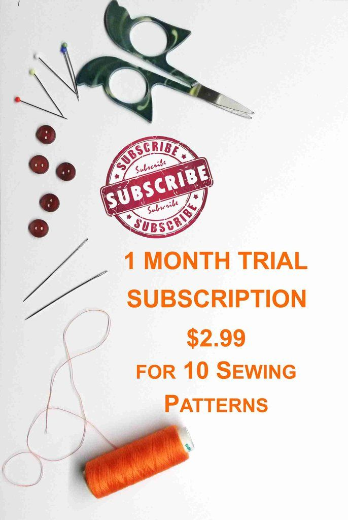 Annual Sewing Patterns Subscription, easy sewing patterns, free sewing patterns