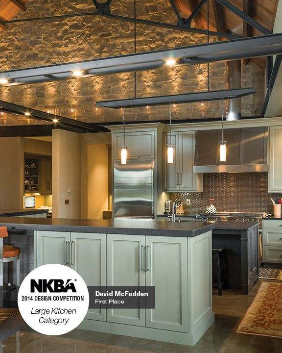 30 Cool Industrial Design Kitchens: 2014 NKBA Design Competition Winner- Large Kitchen 1st