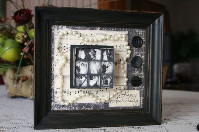 Pearl Gift Ideas For 30th Wedding Anniversary: DIY Anniversary Project. I Am So Doing This For My Parents