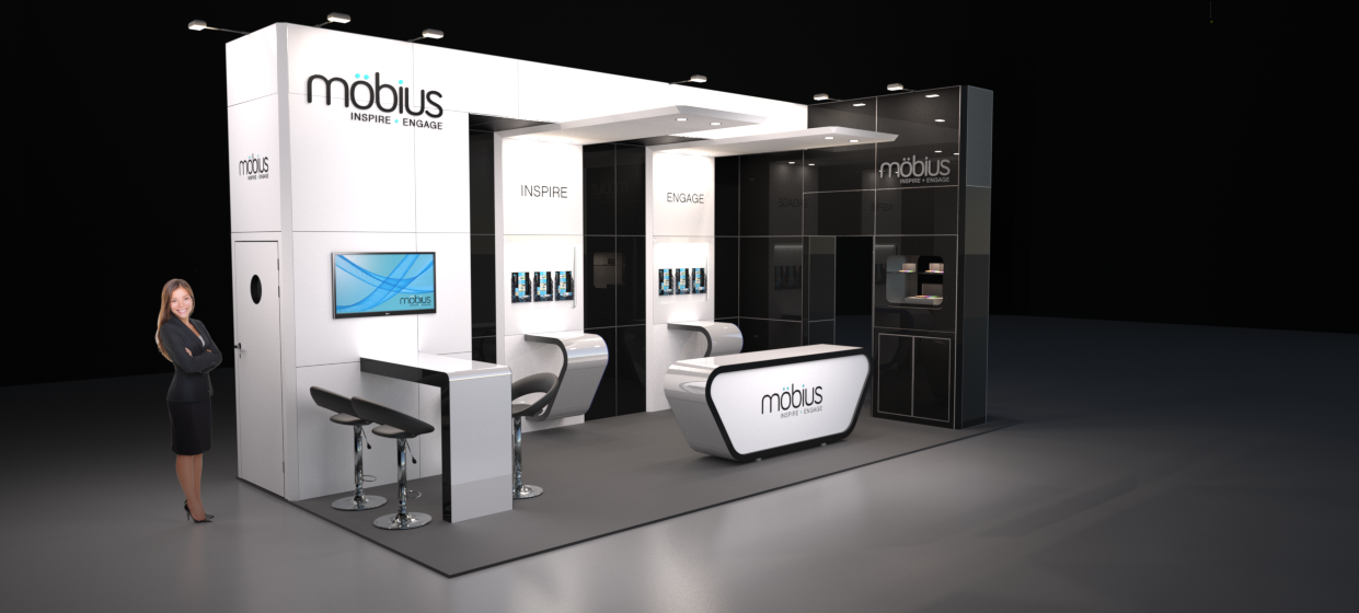 Exhibition Stand Design Price : Image möbius m modular exhibition stand without the custom