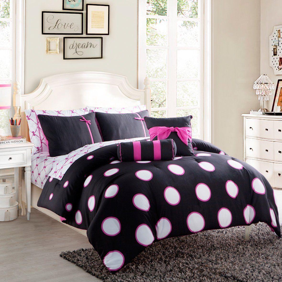 Teen Kids Girls Modern Pink White Black