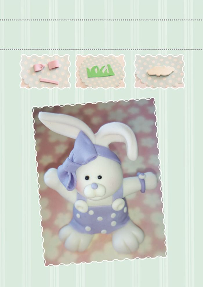 how to make a sugar paste bunny