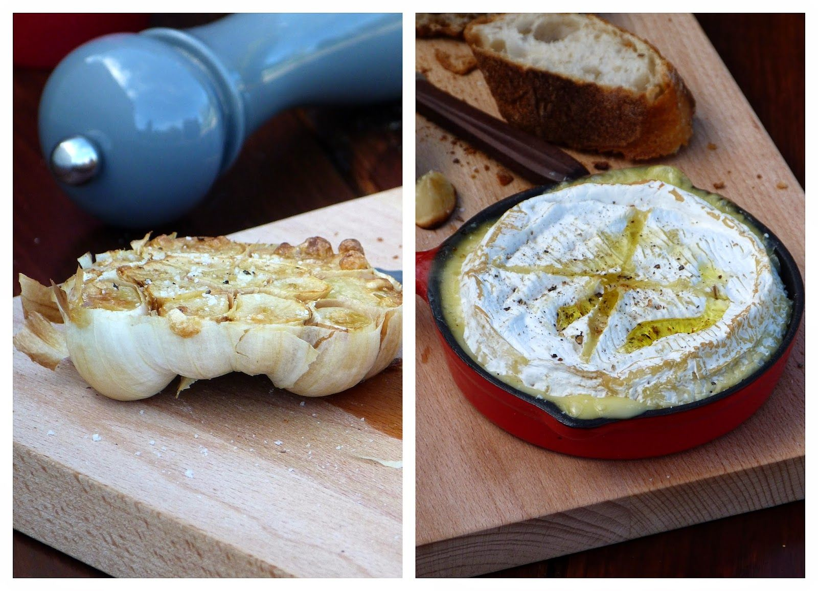 Chic, chic, chocolat...: Camembert et ail au four {Battle Food #24}