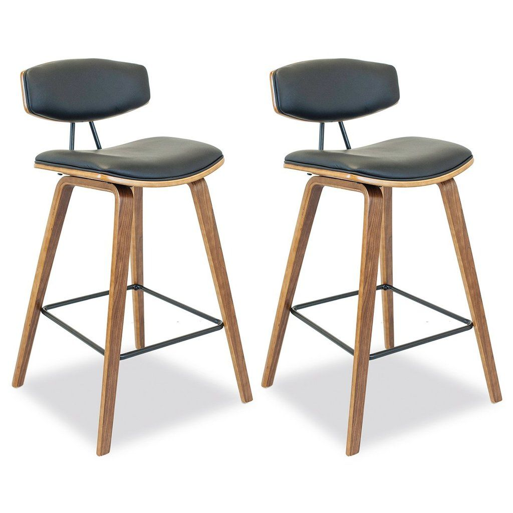 Bonnie Bar Stool Set Of 2 Black Bar Stools Kitchen Bar Stools Counter Stools