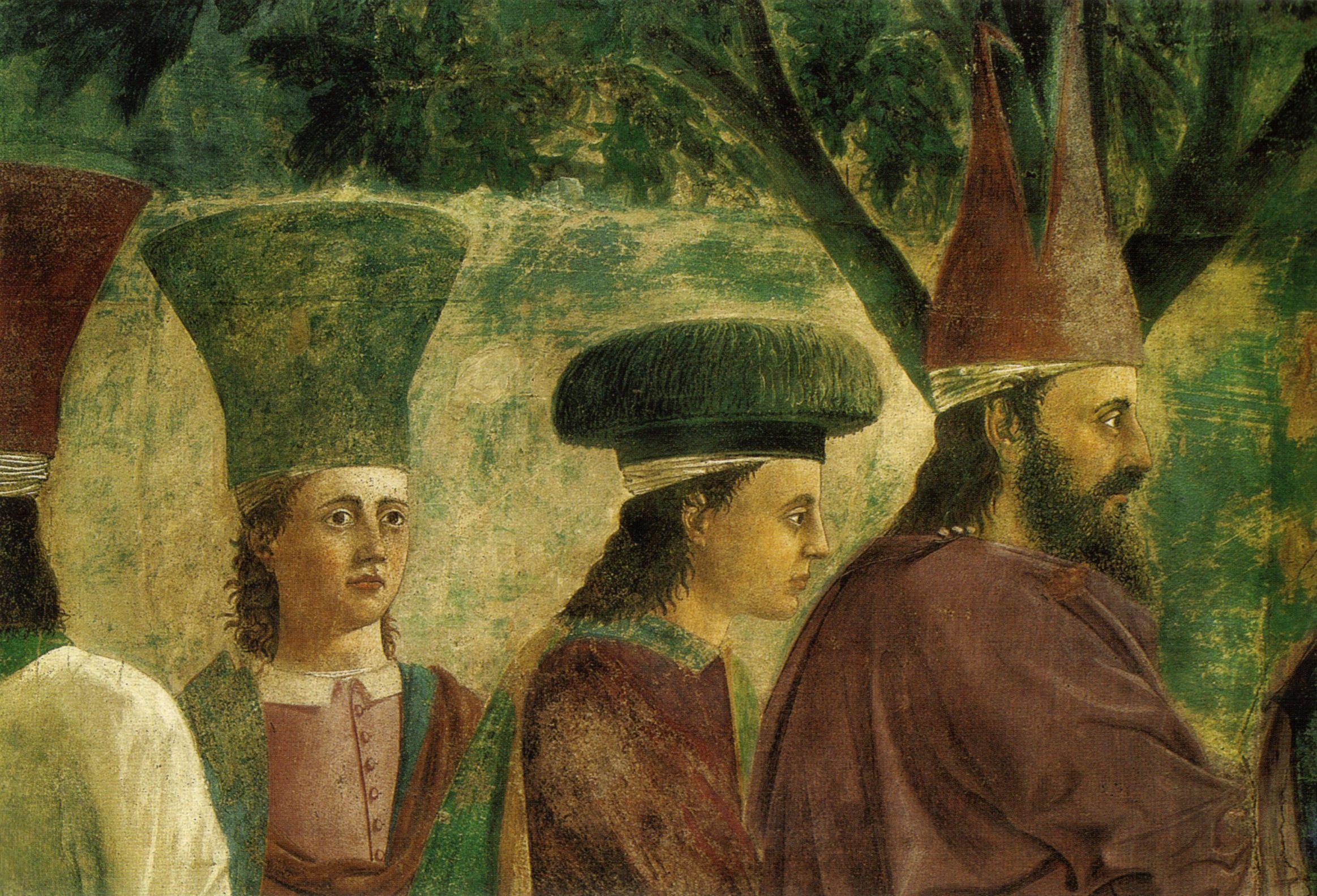 Piero della Francesca, Arezzo, esaltazione della croce ...