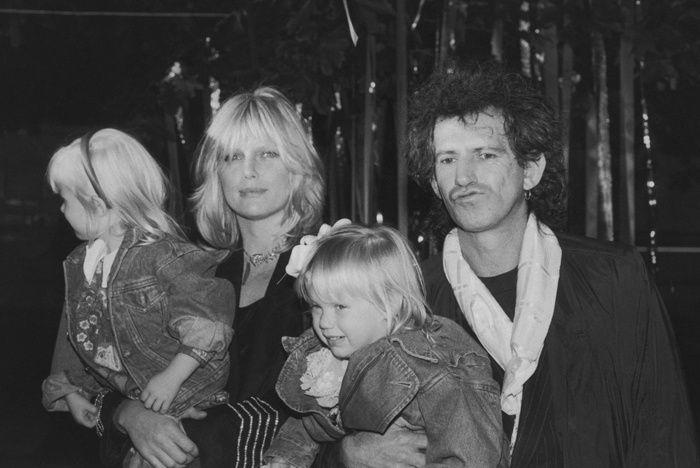 Las mujeres de los Rolling Stones y de los Beatles: Patti Hansen y Keith Richards