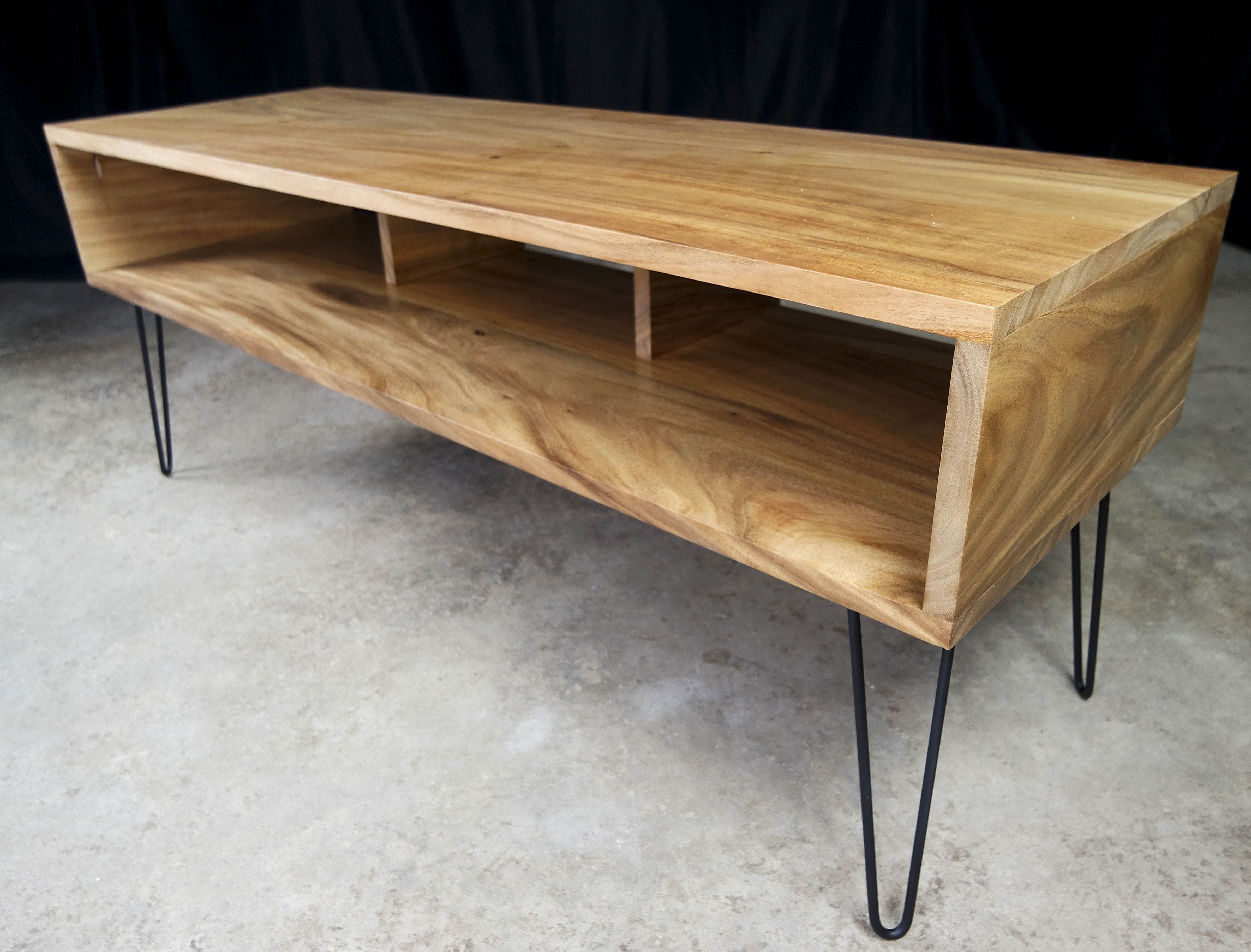 Custom Mid Century Modern Tv Stand Made From Exotic Monkey