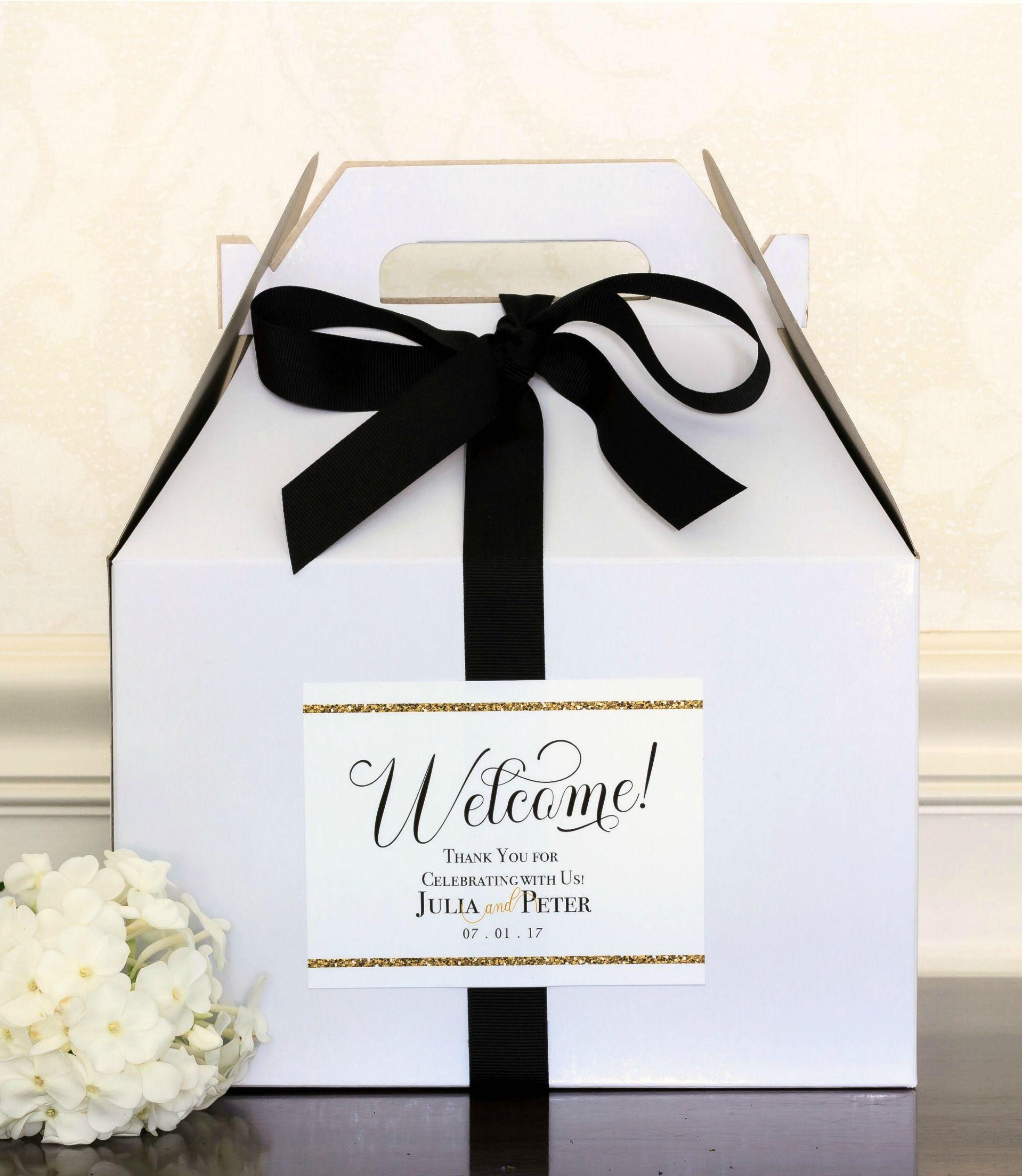 "4X5"" Large Gold Wedding Bag Labels Wedding"