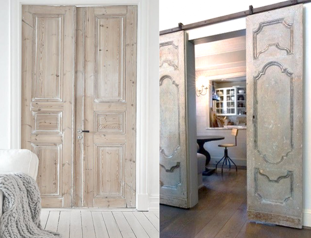 15 inspirations pour recycler une porte ancienne doors. Black Bedroom Furniture Sets. Home Design Ideas