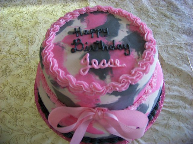 camo cakes for girls Beautiful Pink Camouflage Birthday Cake