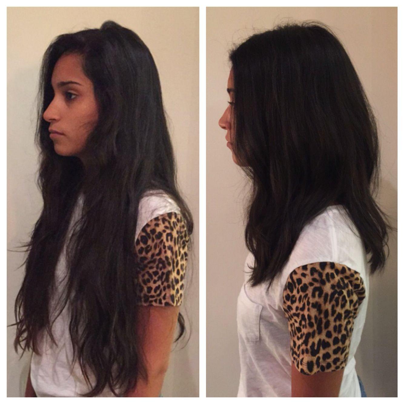 Before And After Haircut Razor Haircut Long Layers Textured - Razor haircut