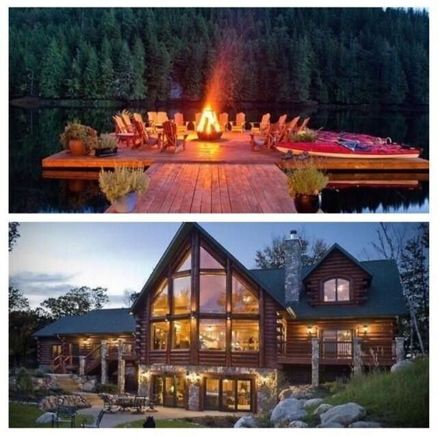 Cool Lake House With Bonfire Area On The Dock Lake House House Bonfire