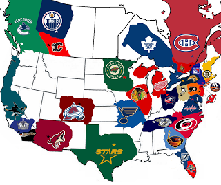 Nhl Tournament Of Logos Nhl Fan Base Map Hockey Hockey Memes Blackhawks Hockey