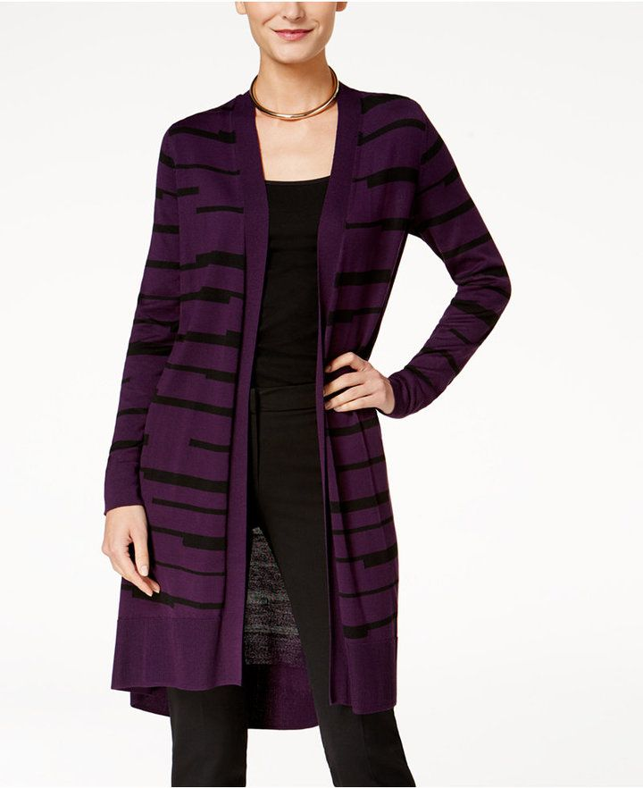 Alfani Duster Cardigan, Created for Macy's - Purple XL | Products