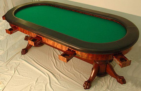 Elegant 10 Person Poker Table By Neerlyobsessed On Etsy 17000 00 Custom Poker Tables Poker Table Poker Table Top