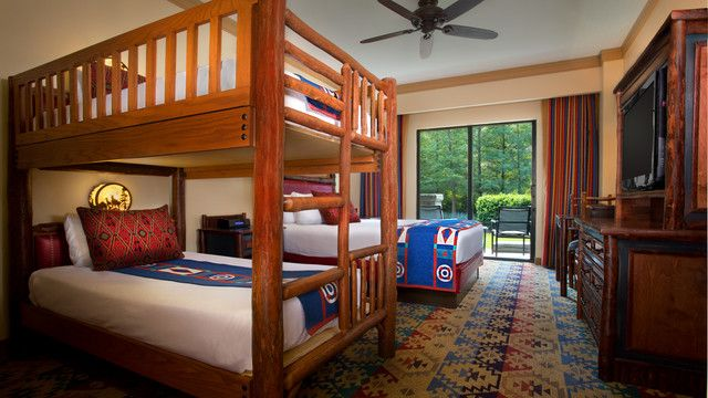 Standard Room With Woods View And Bunk Bed Wilderness Lodge Think